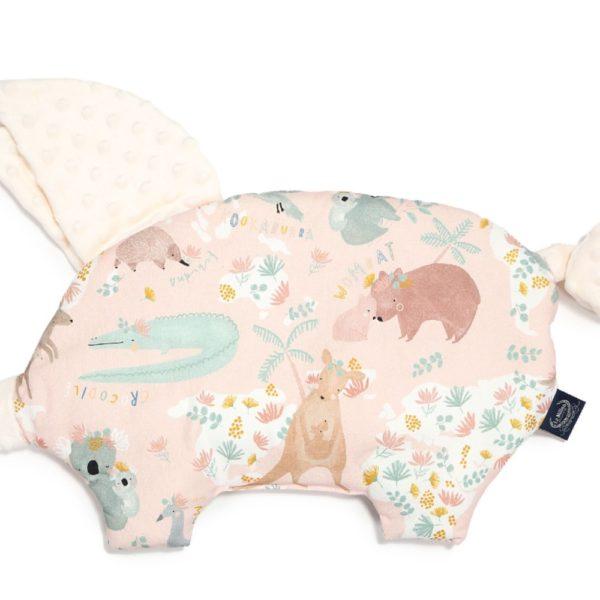 LA MILLOU SLEEPY PIG DUNDEE & FRIENDS PINK – ECRU
